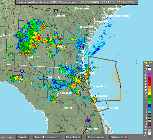 Radar Image for Severe Thunderstorms near World Golf Village, FL at 6/30/2020 4:09 PM EDT