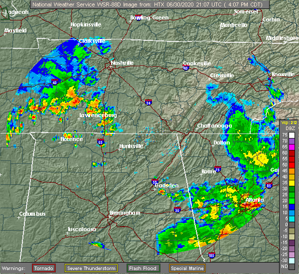 Radar Image for Severe Thunderstorms near Mount Pleasant, TN at 6/30/2020 4:10 PM CDT