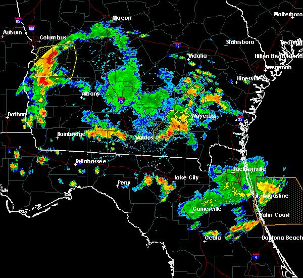 Radar Image for Severe Thunderstorms near Homerville, GA at 6/30/2020 5:13 PM EDT