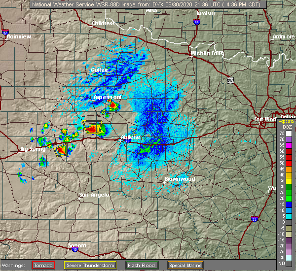 Radar Image for Severe Thunderstorms near Rochester, TX at 6/30/2020 4:43 PM CDT