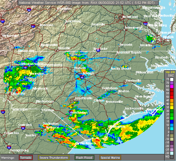 Radar Image for Severe Thunderstorms near Stem, NC at 6/30/2020 5:56 PM EDT