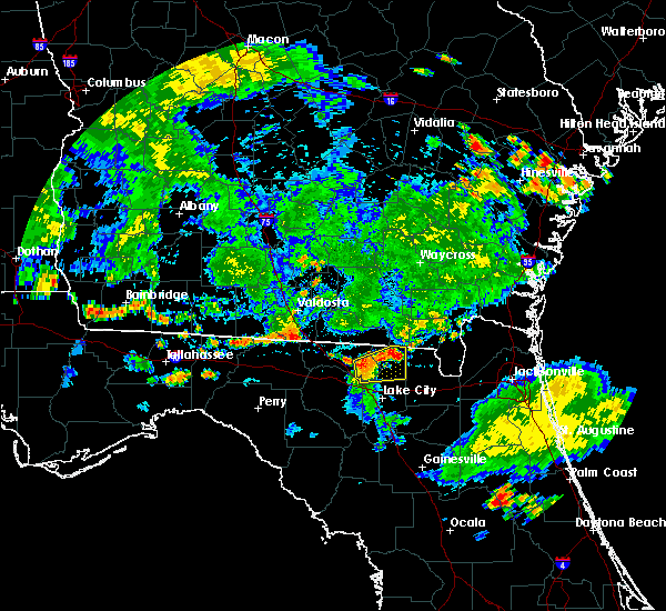 Radar Image for Severe Thunderstorms near Valdosta, GA at 6/30/2020 6:33 PM EDT