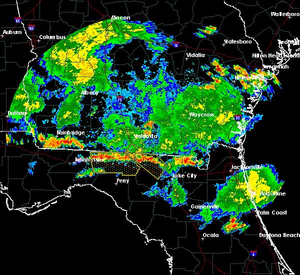 Radar Image for Severe Thunderstorms near Valdosta, GA at 6/30/2020 6:56 PM EDT
