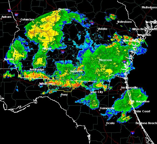 Radar Image for Severe Thunderstorms near Lake City, FL at 6/30/2020 7:15 PM EDT