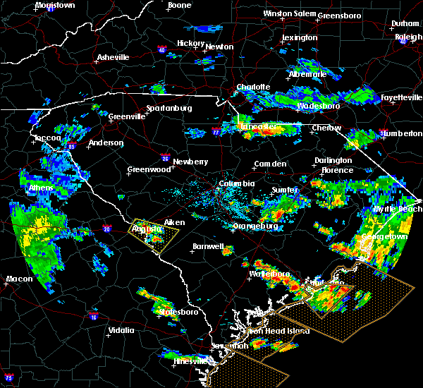 Radar Image for Severe Thunderstorms near New Ellenton, SC at 6/30/2020 8:02 PM EDT