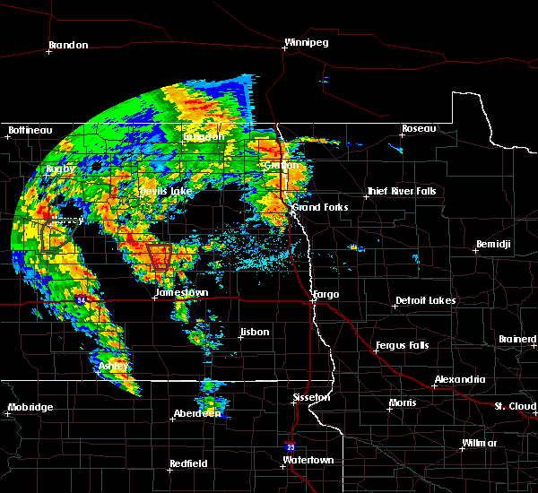 Radar Image for Severe Thunderstorms near Fort Totten, ND at 6/30/2020 8:02 PM CDT