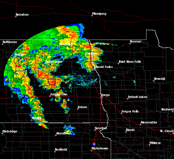 Radar Image for Severe Thunderstorms near Glenfield, ND at 6/30/2020 8:14 PM CDT
