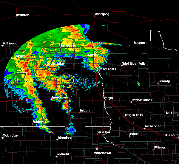 Radar Image for Severe Thunderstorms near McVille, ND at 6/30/2020 8:26 PM CDT