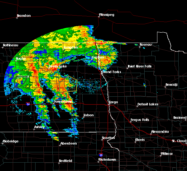 Radar Image for Severe Thunderstorms near McVille, ND at 6/30/2020 8:50 PM CDT