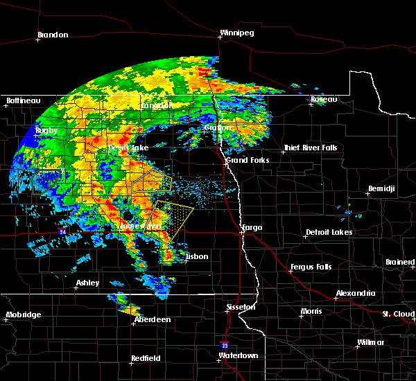 Radar Image for Severe Thunderstorms near McVille, ND at 6/30/2020 9:10 PM CDT