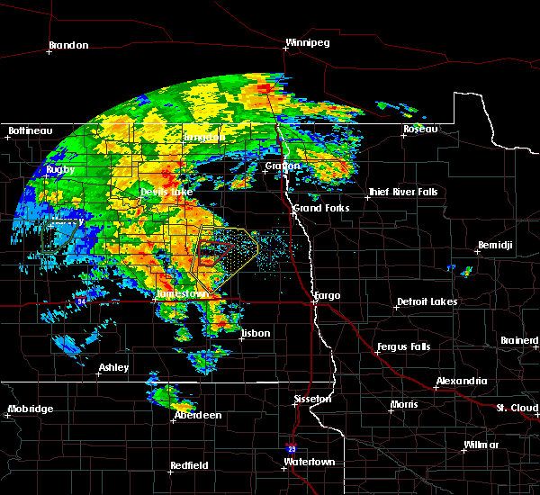 Radar Image for Severe Thunderstorms near Finley, ND at 6/30/2020 9:26 PM CDT