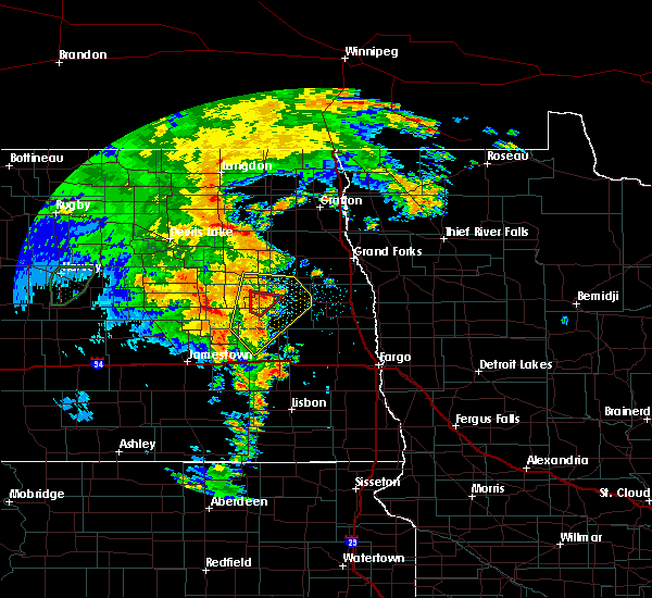 Radar Image for Severe Thunderstorms near McVille, ND at 6/30/2020 9:43 PM CDT