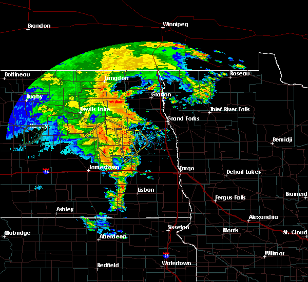 Radar Image for Severe Thunderstorms near McVille, ND at 6/30/2020 9:55 PM CDT