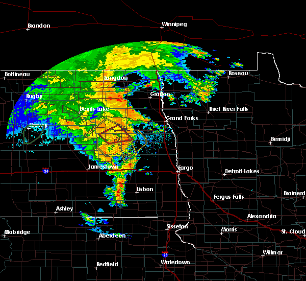 Radar Image for Severe Thunderstorms near McVille, ND at 6/30/2020 10:04 PM CDT
