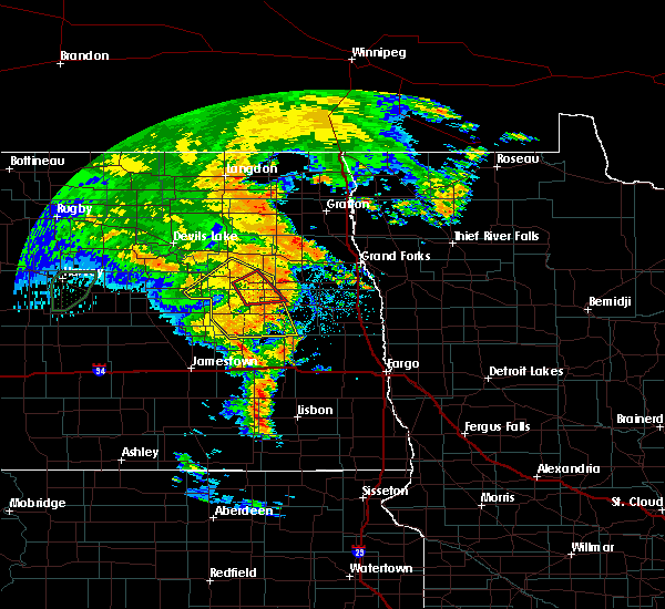 Radar Image for Severe Thunderstorms near McVille, ND at 6/30/2020 10:11 PM CDT