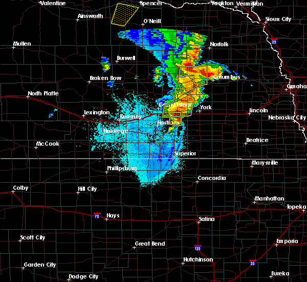 Radar Image for Severe Thunderstorms near Bradshaw, NE at 6/30/2020 10:50 PM CDT