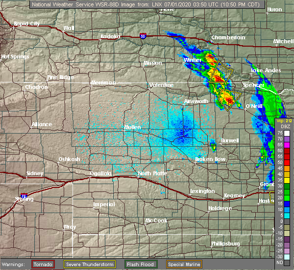 Radar Image for Severe Thunderstorms near Atkinson, NE at 6/30/2020 10:51 PM CDT