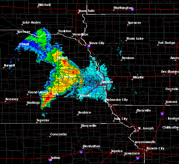 Radar Image for Severe Thunderstorms near Washington, NE at 6/30/2020 11:42 PM CDT