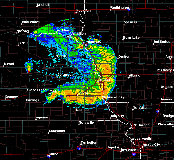 Radar Image for Severe Thunderstorms near Sidney, IA at 7/1/2020 1:39 AM CDT