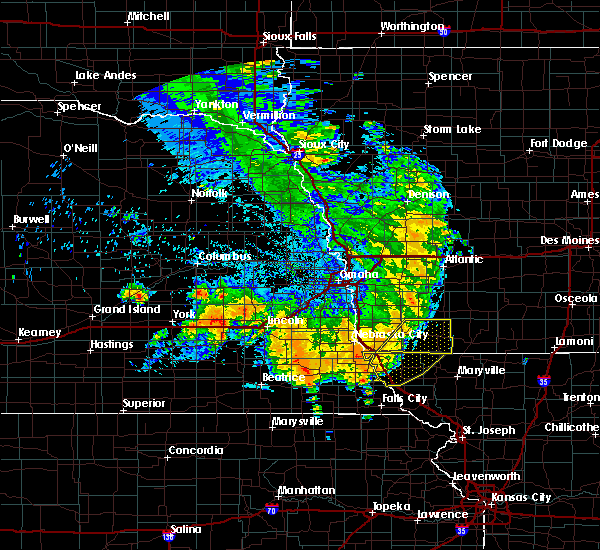 Radar Image for Severe Thunderstorms near Clarinda, IA at 7/1/2020 2:16 AM CDT