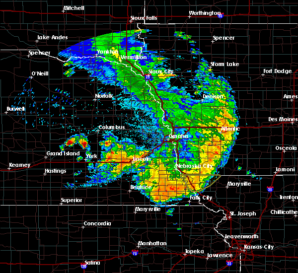 Radar Image for Severe Thunderstorms near Braddyville, IA at 7/1/2020 2:44 AM CDT