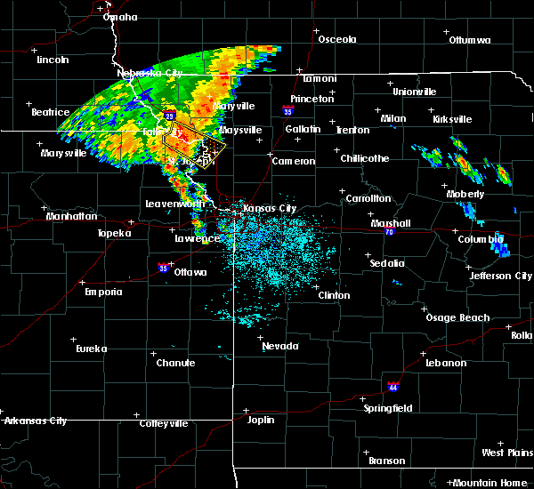 Radar Image for Severe Thunderstorms near Severance, KS at 7/1/2020 3:57 AM CDT