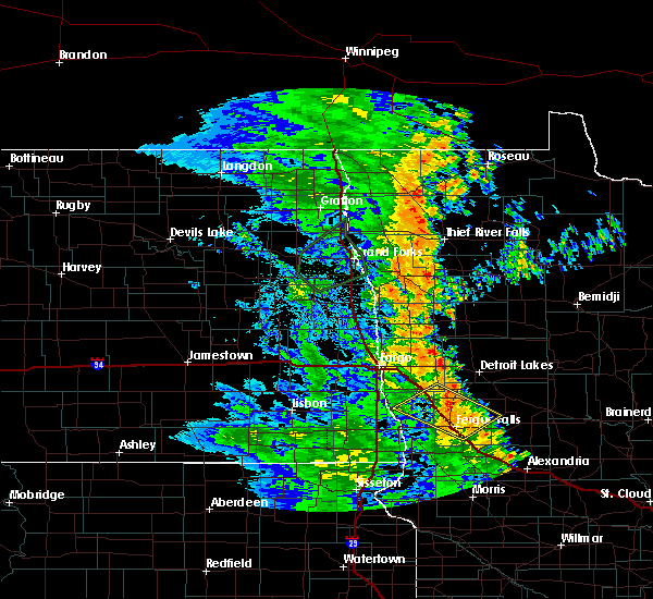 Radar Image for Severe Thunderstorms near Fergus Falls, MN at 7/1/2020 4:04 AM CDT