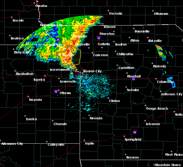 Radar Image for Severe Thunderstorms near Lewis and Clark Village, MO at 7/1/2020 4:14 AM CDT