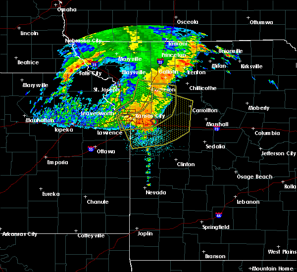 Radar Image for Severe Thunderstorms near Henrietta, MO at 7/1/2020 5:41 AM CDT