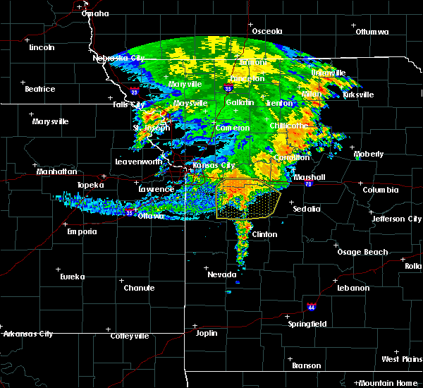 Radar Image for Severe Thunderstorms near La Monte, MO at 7/1/2020 6:47 AM CDT