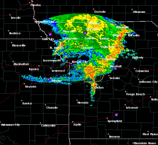Radar Image for Severe Thunderstorms near Warrensburg, MO at 7/1/2020 7:01 AM CDT