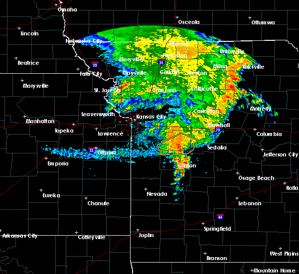 Radar Image for Severe Thunderstorms near Warrensburg, MO at 7/1/2020 7:11 AM CDT