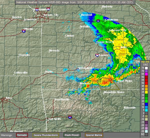 Radar Image for Severe Thunderstorms near Pontiac, MO at 7/1/2020 11:39 AM CDT