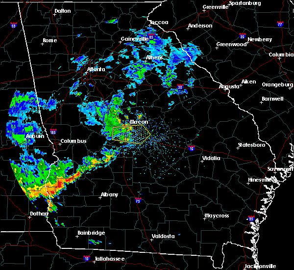 Radar Image for Severe Thunderstorms near Macon, GA at 7/1/2020 1:06 PM EDT
