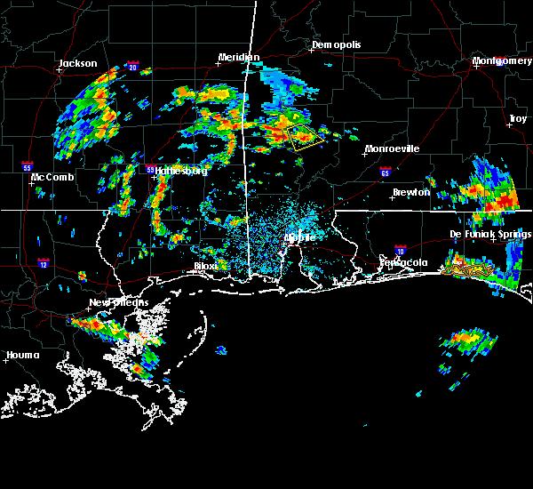 Radar Image for Severe Thunderstorms near Chatom, AL at 7/1/2020 1:44 PM CDT
