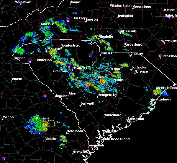 Radar Image for Severe Thunderstorms near Stateburg, SC at 7/1/2020 3:21 PM EDT