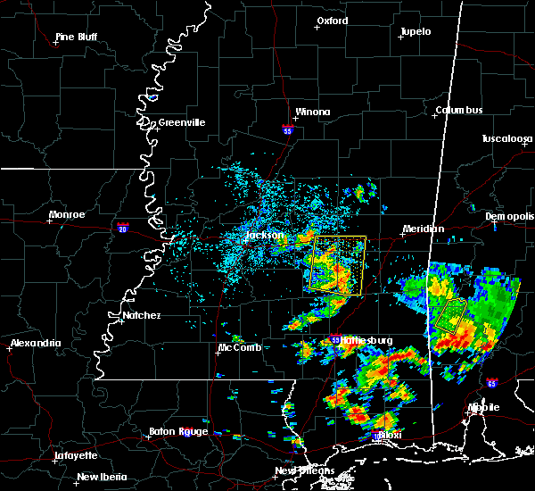 Radar Image for Severe Thunderstorms near Bay Springs, MS at 7/1/2020 2:51 PM CDT