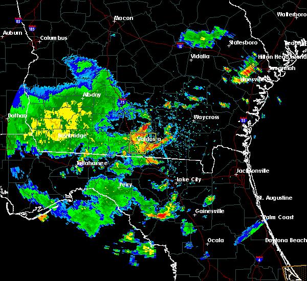 Radar Image for Severe Thunderstorms near Homerville, GA at 7/1/2020 4:34 PM EDT