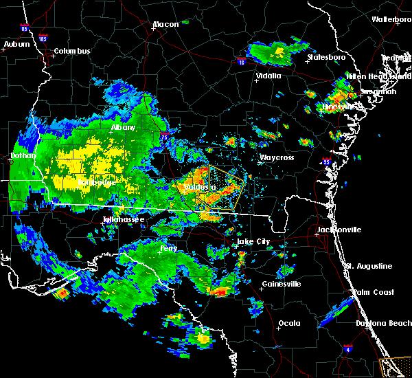 Radar Image for Severe Thunderstorms near Homerville, GA at 7/1/2020 4:47 PM EDT