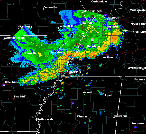 Radar Image for Severe Thunderstorms near Lakeland, TN at 7/1/2020 3:57 PM CDT