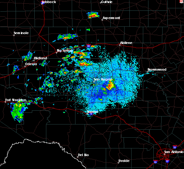 Radar Image for Severe Thunderstorms near Loraine, TX at 7/1/2020 4:05 PM CDT