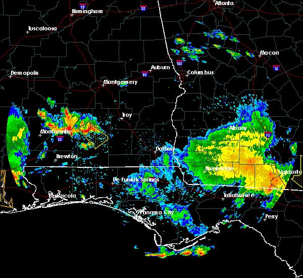 Radar Image for Severe Thunderstorms near Georgiana, AL at 7/1/2020 4:11 PM CDT