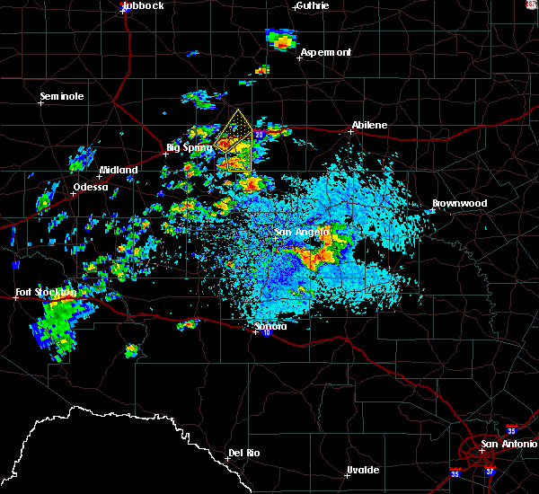 Radar Image for Severe Thunderstorms near Loraine, TX at 7/1/2020 4:35 PM CDT