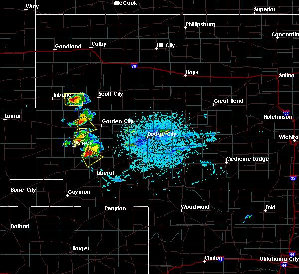 Radar Image for Severe Thunderstorms near Satanta, KS at 7/1/2020 7:02 PM CDT