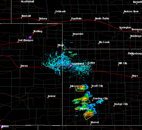 Radar Image for Severe Thunderstorms near Marienthal, KS at 7/1/2020 7:16 PM CDT