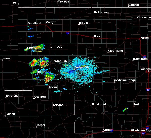 Radar Image for Severe Thunderstorms near Satanta, KS at 7/1/2020 7:29 PM CDT