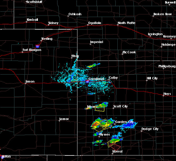 Radar Image for Severe Thunderstorms near Marienthal, KS at 7/1/2020 7:40 PM CDT