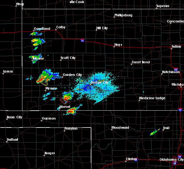 Radar Image for Severe Thunderstorms near Plains, KS at 7/1/2020 8:10 PM CDT