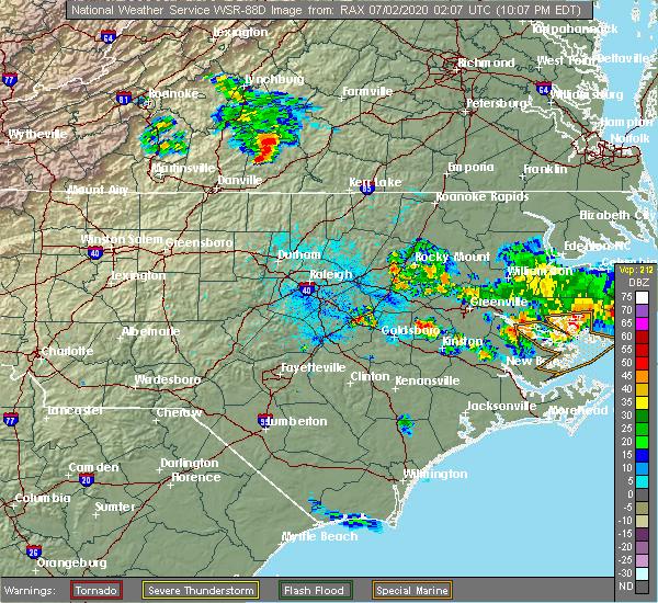 Radar Image for Severe Thunderstorms near Nathalie, VA at 7/1/2020 10:13 PM EDT