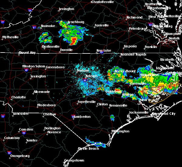 Radar Image for Severe Thunderstorms near Nathalie, VA at 7/1/2020 10:14 PM EDT